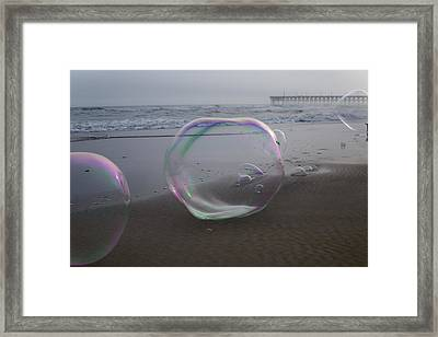 Playing With The Big Guys Framed Print by Betsy Knapp