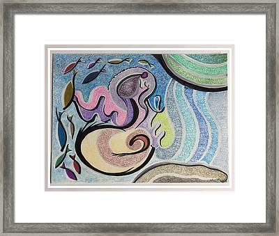 Playing With The Seal Framed Print