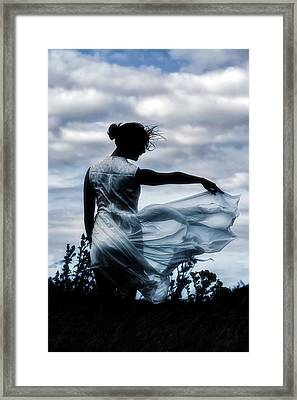 Playing With The Wind Framed Print
