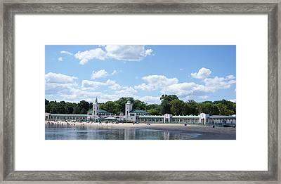 Playland Beach Boardwalk Framed Print
