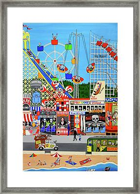 Playland In The Afterlife Framed Print by Evangelina Portillo