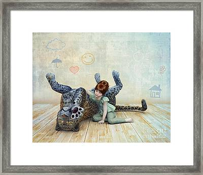 Playmate Framed Print by Jutta Maria Pusl