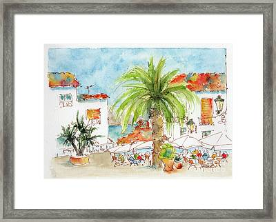 Plaza Altea Alicante Spain Framed Print by Pat Katz