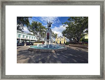 Plaza Colon Mayaguez  Framed Print