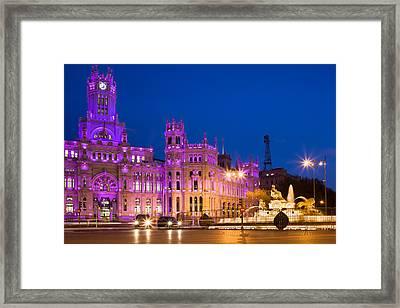 Plaza De Cibeles In Madrid Framed Print