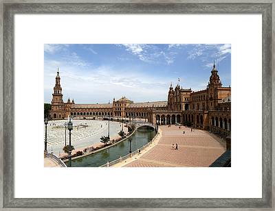 Framed Print featuring the photograph Plaza De Espana 4 by Andrew Fare