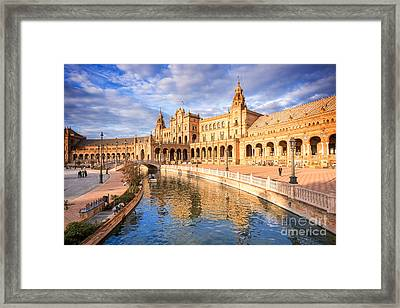 Plaza De Espana Framed Print by Delphimages Photo Creations