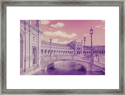 Framed Print featuring the photograph Plaza De Espana. Dreamy by Jenny Rainbow