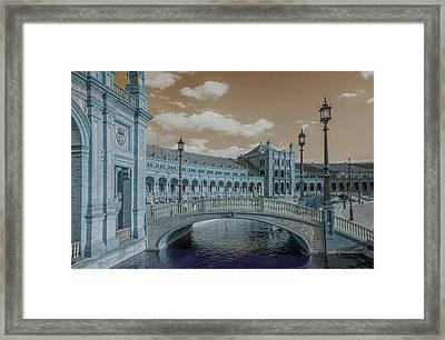 Framed Print featuring the photograph Plaza De Espana Vintage by Jenny Rainbow