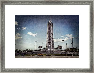 Framed Print featuring the photograph Plaza De La Revolucion by Lou Novick