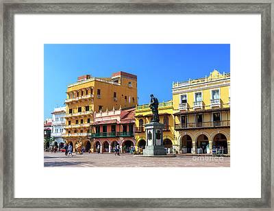 Plaza De Los Coches Framed Print by John Rizzuto