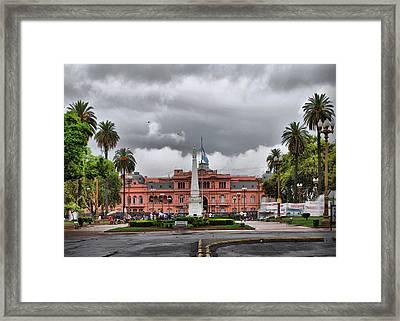 Plaza De Mayo Buenos Aires Framed Print by Hans Wolfgang Muller Leg