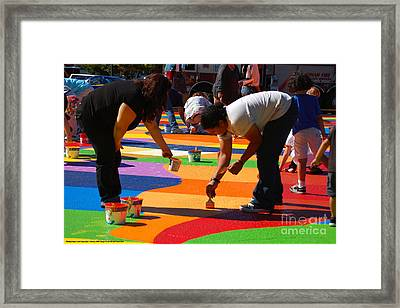 Plaza Del Sol Community Paint Framed Print by Angelina Marino