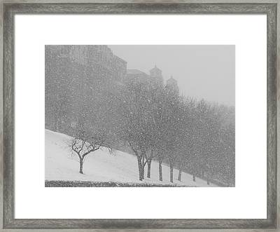 Plaza Impressionism With Kc Snow Framed Print