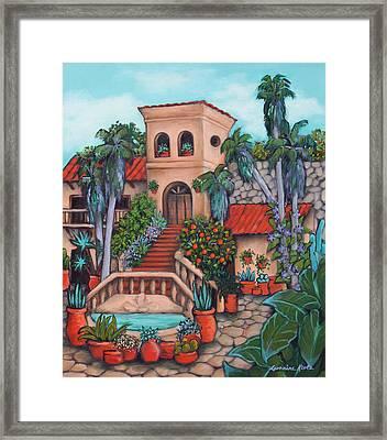 Plaza Jardin Framed Print by Lorraine Klotz