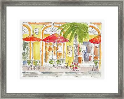 Framed Print featuring the painting Plaza Machada Mazatlan by Pat Katz