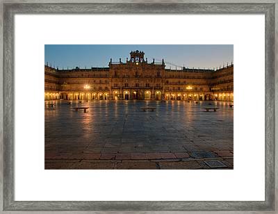 Plaza Mayor In Salamanca Framed Print by Amber Lea Starfire
