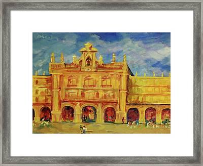 Plaza Mayor Salamanca Framed Print by Danielle Hacker