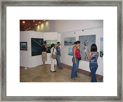 Plaza Pelicanos Framed Print by Angel Ortiz