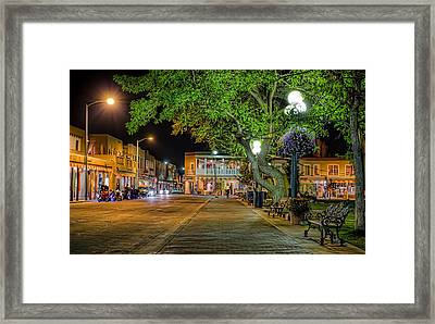 Framed Print featuring the photograph Plaza Santa Fe by Anna Rumiantseva
