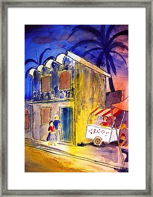 Plaza Taco Stand Framed Print by Buster Dight