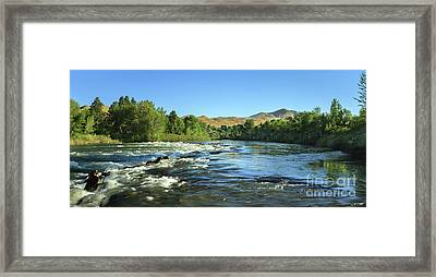 Plaza View Framed Print by Robert Bales