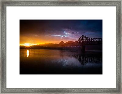 Ple  Train Bridge 2 Framed Print