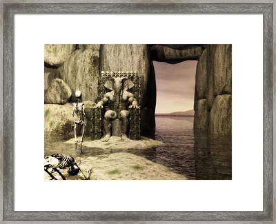Framed Print featuring the digital art Plea Of The Penitent To The Lord Of Perdition by John Alexander