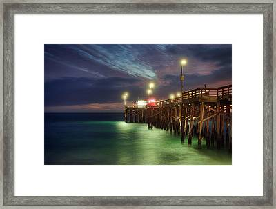 Framed Print featuring the photograph Pleasant Balboa Night by Quality HDR Photography