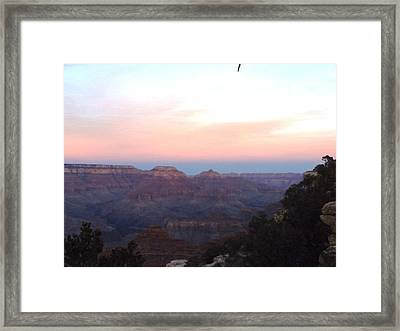 Pleasant Evening At The Canyon Framed Print by Adam Cornelison