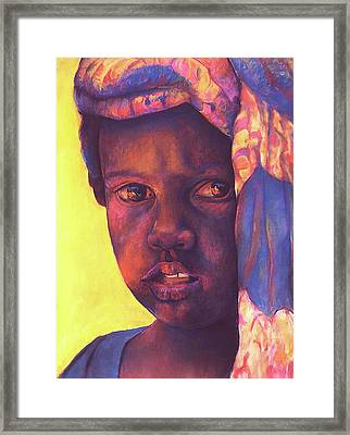 Please Framed Print by Curtis James
