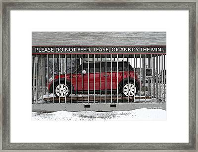 Please Do Not Feed Tease Or Annoy The Mini Framed Print