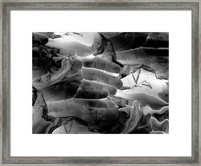 Please Don't Touch The Angels Framed Print by Abstract Angel Artist Stephen K