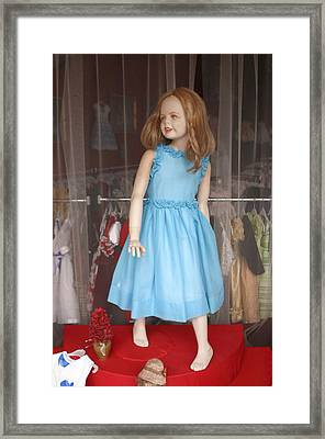 Please Enter My Lovely Shop Framed Print by Jez C Self