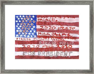 Please Michelle Obama Please 2020  Framed Print by Sushila Burgess