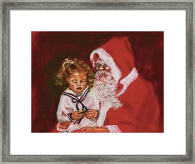 Please Mr Santa Framed Print by Yvonne Ayoub