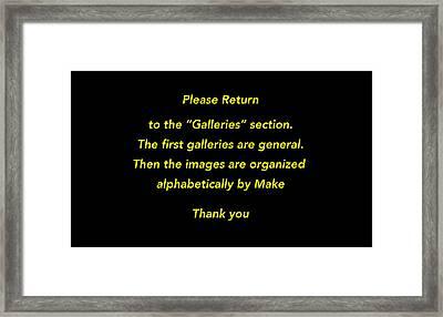 Please Return To Galleries Option Framed Print by Jill Reger