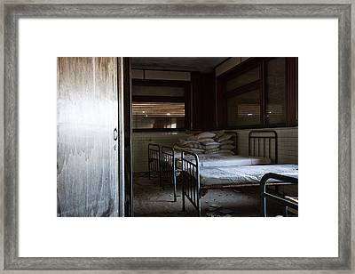 Please Dont Turn Out The Light - Urban Exploration Framed Print by Dirk Ercken
