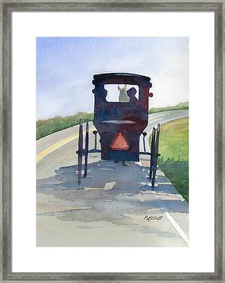 Please Use Caution Framed Print by Marsha Elliott