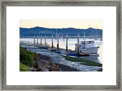 Pleasure Boat Dock Framed Print by Barbara Snyder