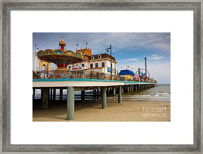 Pleasure Pier Framed Print by Inge Johnsson