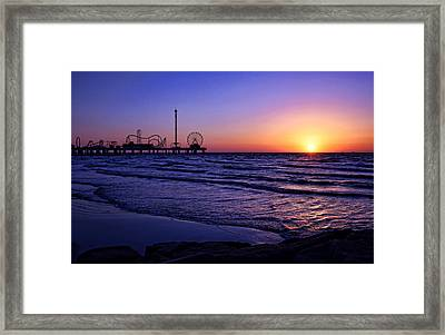 Pleasure Pier Sunrise Framed Print