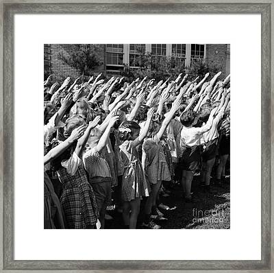 Pledge Of Allegiance, 1942 Framed Print