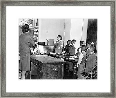 Pledge Of Allegiance, 1958 Framed Print by Granger