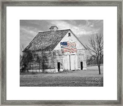 Pledge Of Allegiance Crib Framed Print by Kathy M Krause