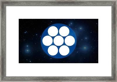 Pleiades 'phone Number' Framed Print by Michal Sornat