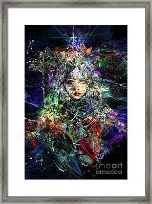 Pleiadian Bird Tribe Priestess Framed Print