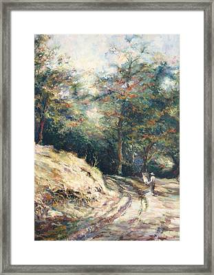 Plein Air - Mamikon Ghulyan At Work Framed Print