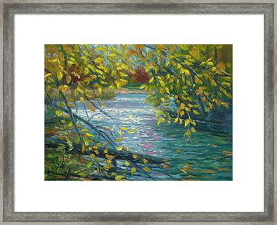 Plein Air - Chicopee State Park Framed Print by Lucie Bilodeau