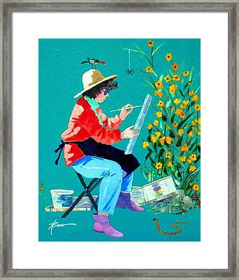 Plein Air Painter  Framed Print